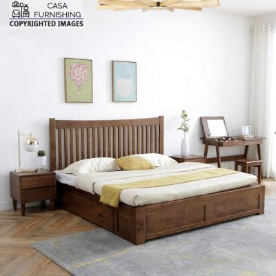 Wooden King/Queen Size Lakdi Ka Bed with Storage