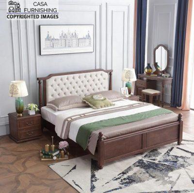 Solid Sheesham Wood Designer Bed Design
