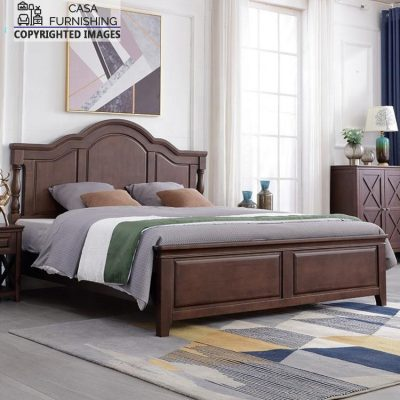 Simple Wooden double bed price made up of sheesham wood
