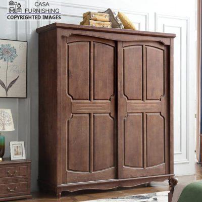 Modern Sliding Door Wardrobe /Almirah made up of Sheesham Wood