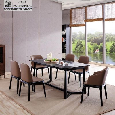 Wooden Dining Table and Chairs design