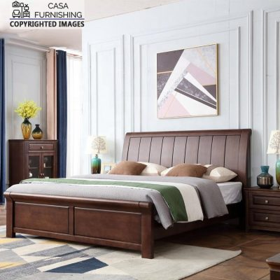 Modern Wooden Bed Designs made up of sheesham wood