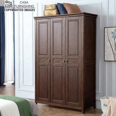 Designer 3 Door Almirah made up of solid sheesham wood