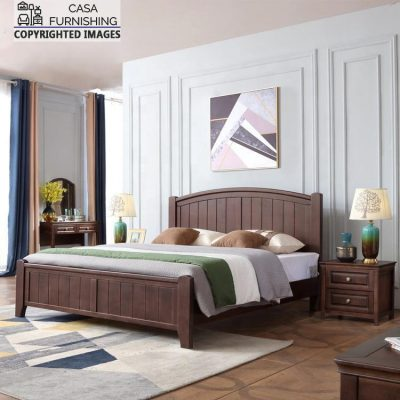 Wood Carving Indian bed Design made up of sheesham wood