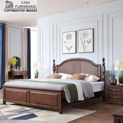 Solid Wood Two Poster Bed made up of solidh sheesham wood