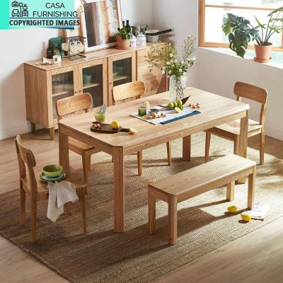 Modern Dining Table Set with bench Design