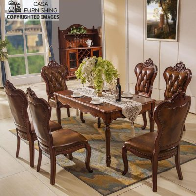 Wooden Dining Table design Hand Carved