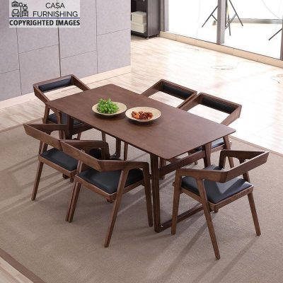 Wooden Dining table and chair Set made up of Solid Wood