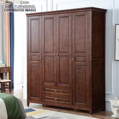 Wooden Wardrobe / Cupboard with Drawers Price