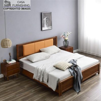 Wooden Double Bed Design