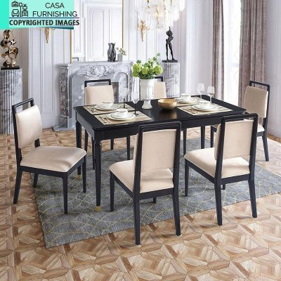 Wooden Dining Table Chair Set Design